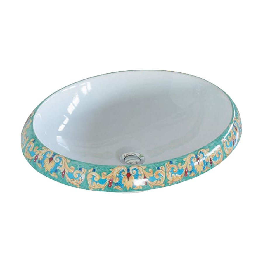 WS Bath Collections Ceramica Giglio Ceramic Vessel Round Bathroom Sink (Drain Included)