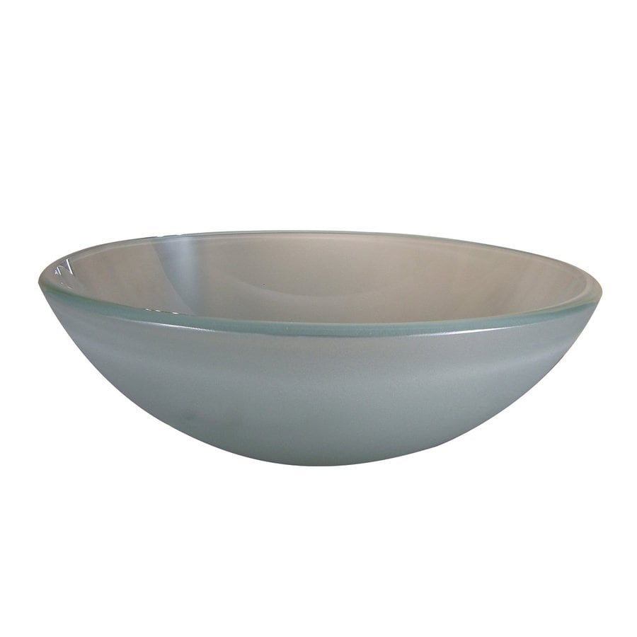 Yosemite Home Decor Frosted Glass Vessel Round Bathroom Sink