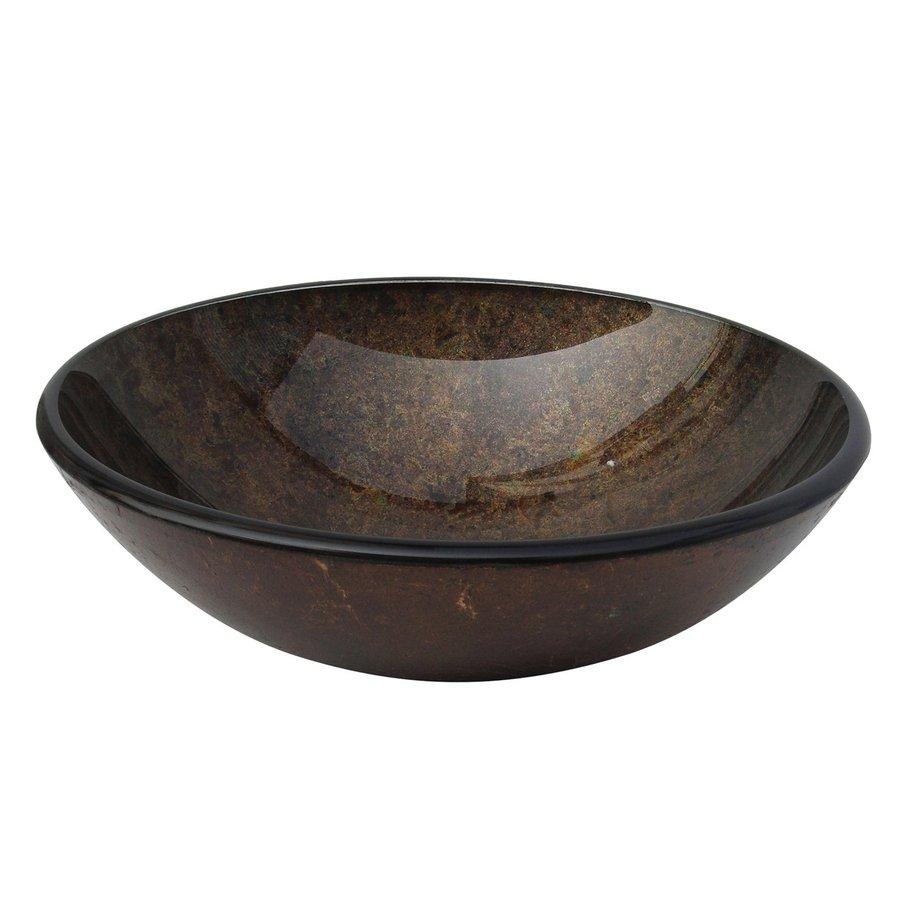 ... Decor Copper Polished Glass Vessel Round Bathroom Sink at Lowes.com