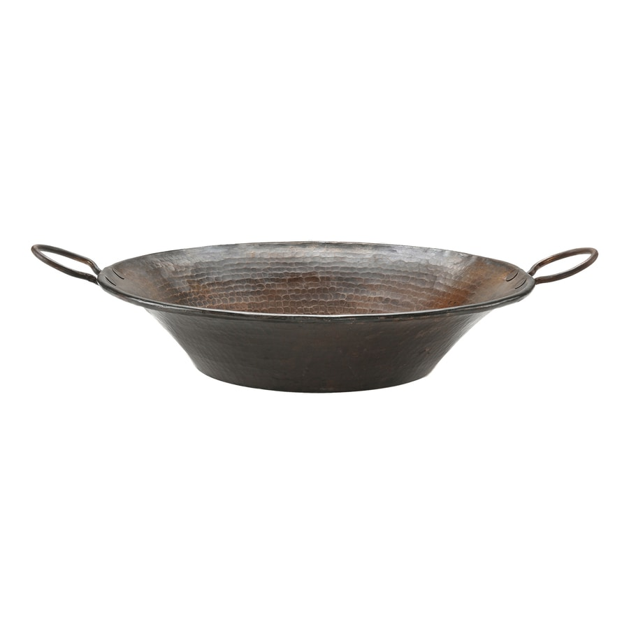... Copper Products Oil-Rubbed Bronze Copper Vessel Round Bathroom Sink