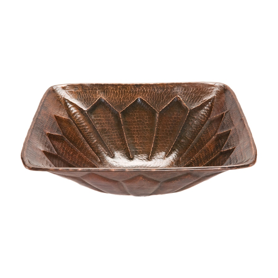 Bronze Vessel Sink : ... Copper Products Oil-Rubbed Bronze Copper Vessel Square Bathroom Sink