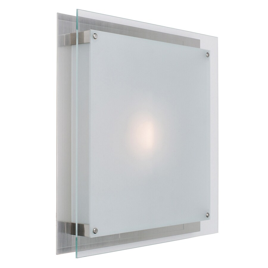 Access Lighting Vision 11.8-in W 1-Light Brushed Steel Pocket Hardwired Wall Sconce