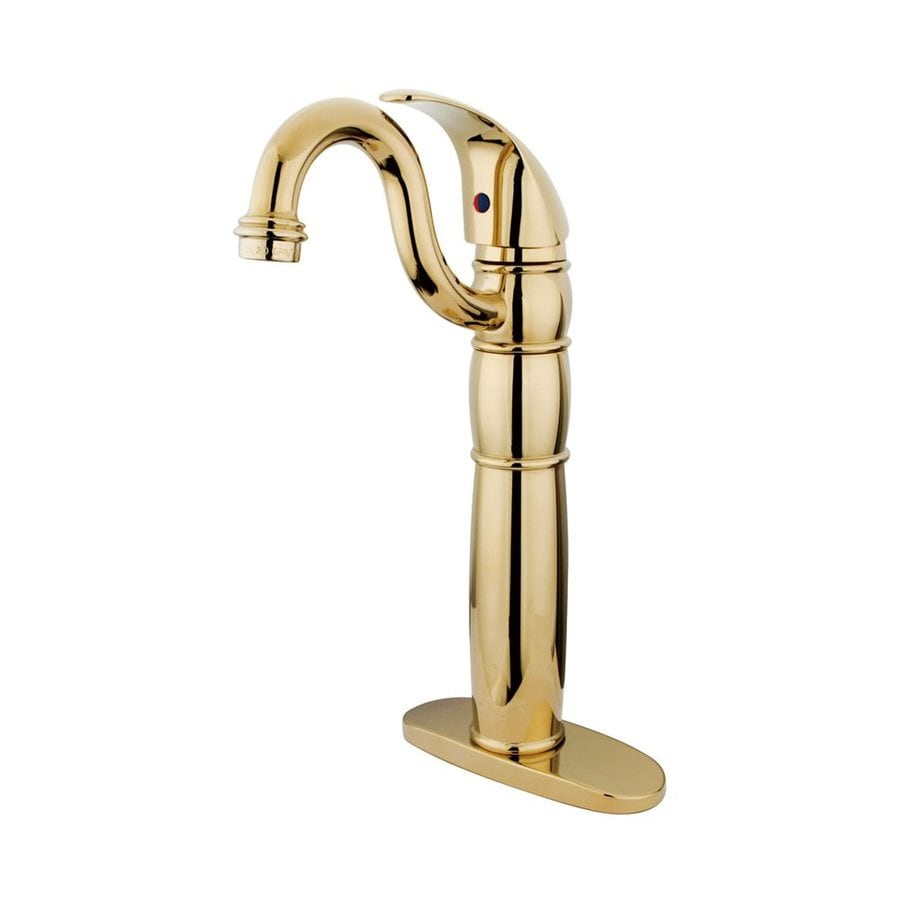 Elements of Design Baltimore Polished Brass 1-Handle Single Hole Bathroom Faucet