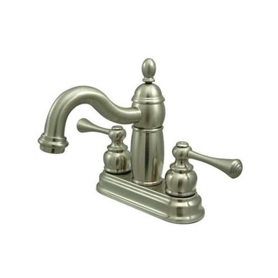 Elements of Design New Orleans Satin Nickel 2-Handle 4-in Centerset Bathroom Faucet