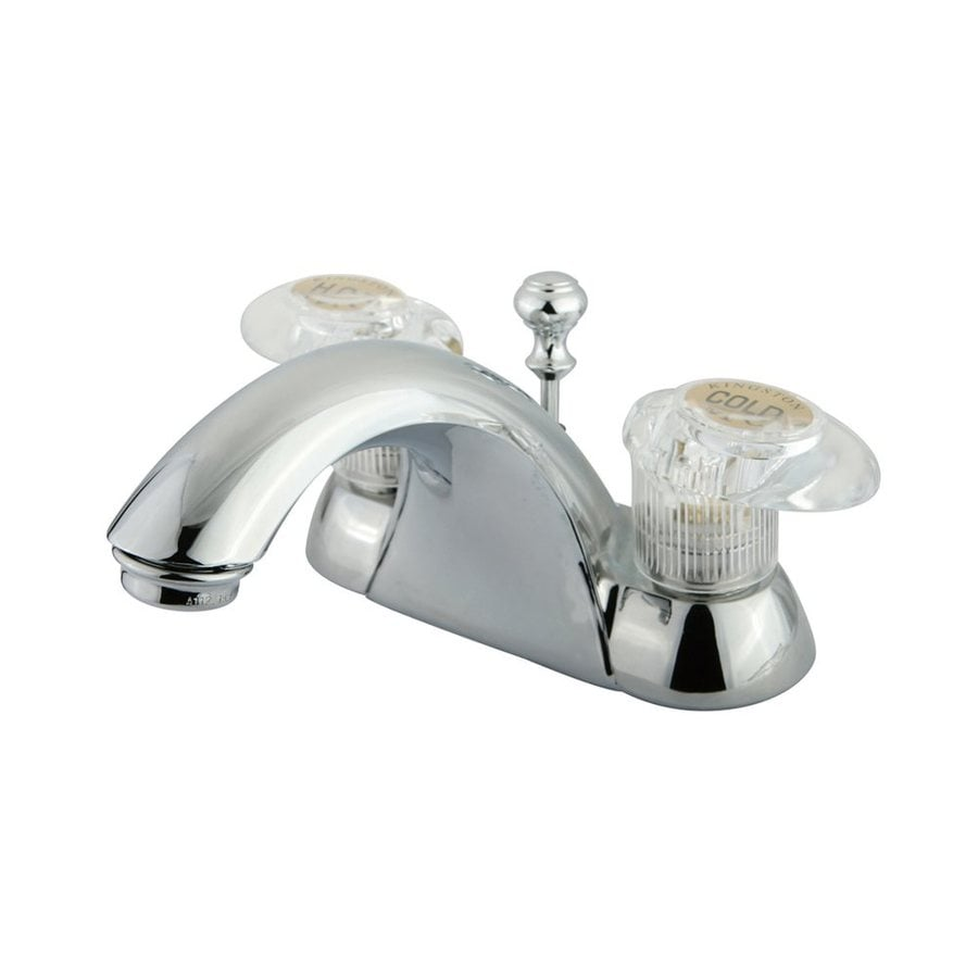 Elements of Design St. Charles Polished Chrome 2-Handle 4-in Centerset Bathroom Faucet (Drain Included)
