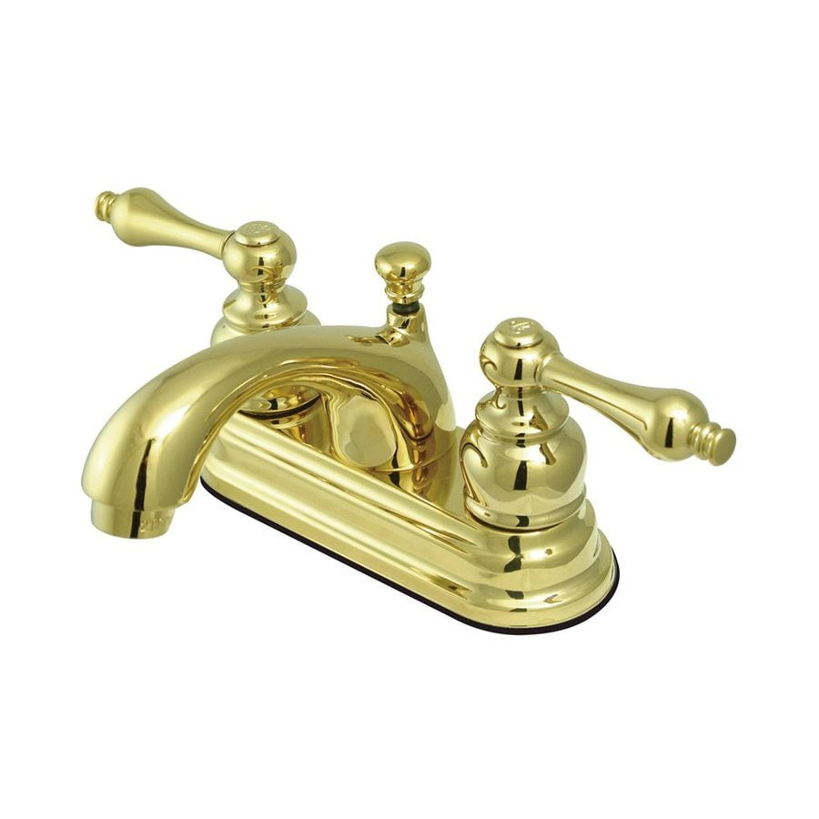 Elements of Design St. Regis Polished Brass 2-Handle 4-in Centerset Bathroom Faucet (Drain Included)