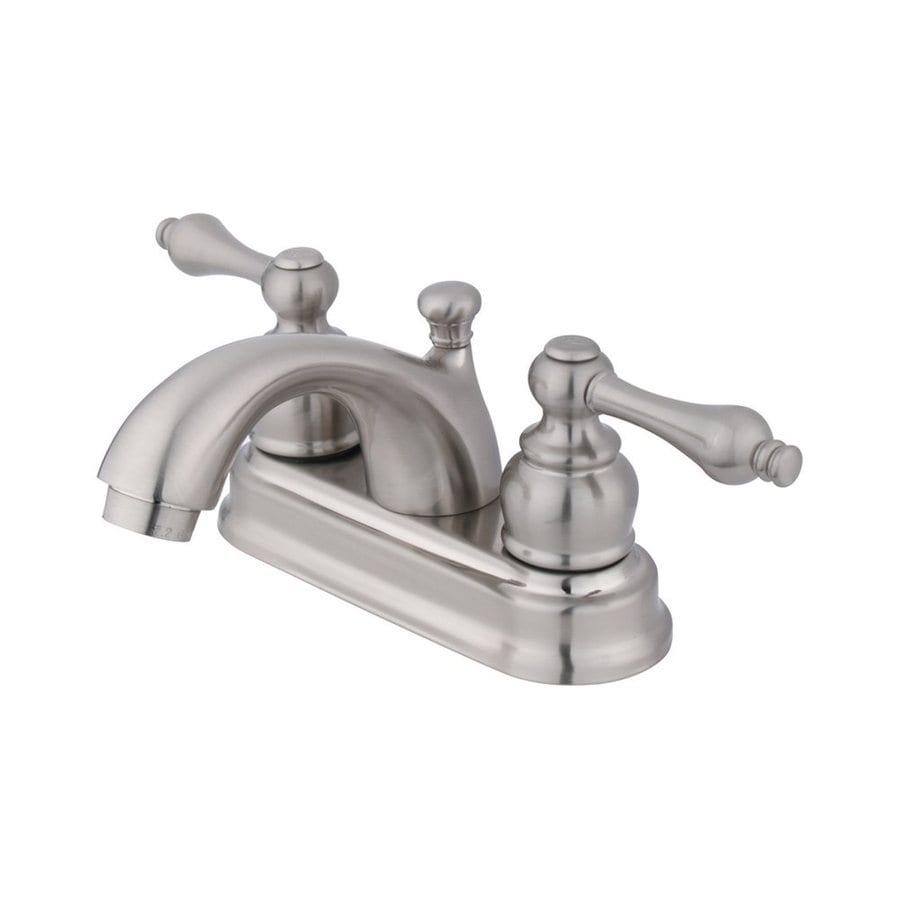 Elements of Design St. Regis Satin Nickel 2-Handle 4-in Centerset Bathroom Faucet (Drain Included)