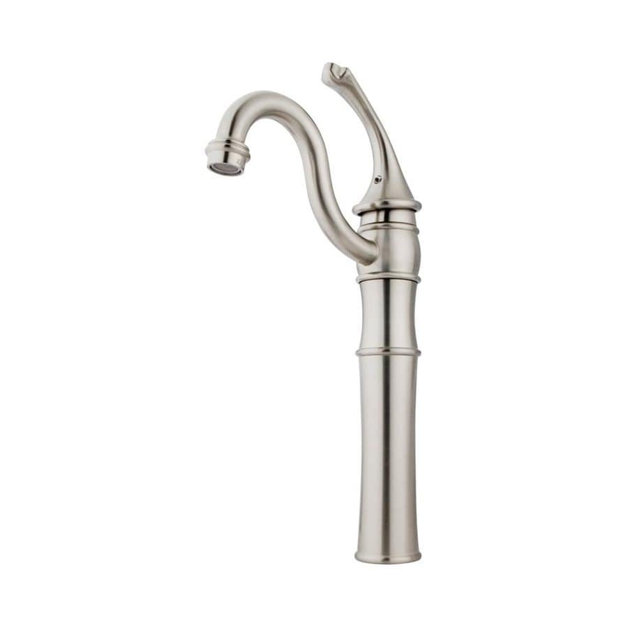 Shop Elements Of Design Georgian Satin Nickel 1 Handle Single Hole Bathroom Faucet At