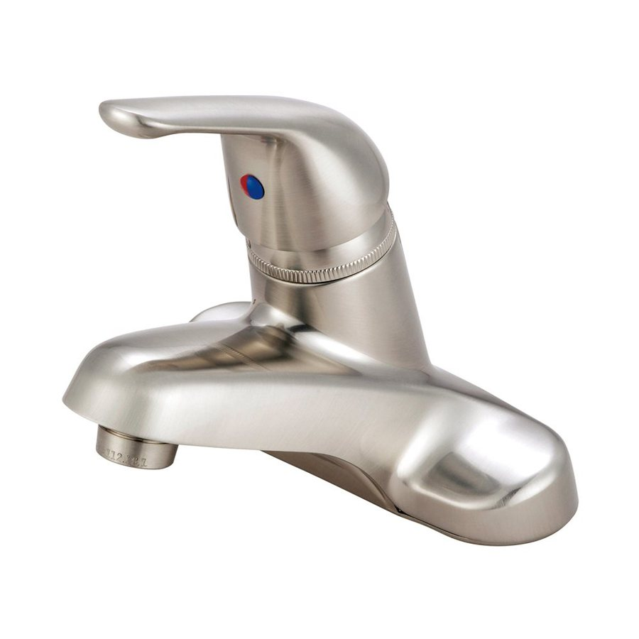 Elements of Design Chatham Satin Nickel 1-Handle 4-in Centerset Bathroom Faucet