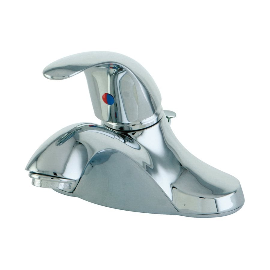 Elements of Design Legacy Polished Chrome 1-Handle 4-in Centerset Bathroom Faucet (Drain Included)