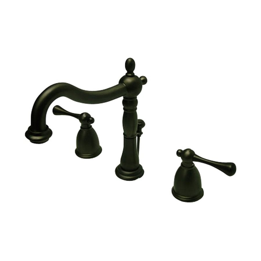 Elements of Design English Vintage Oil-Rubbed Bronze 2-Handle Widespread Bathroom Faucet (Drain Included)