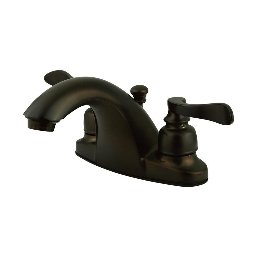 Elements of Design Nuwave French Oil-Rubbed Bronze 2-Handle 4-in Centerset Bathroom Faucet (Drain Included)