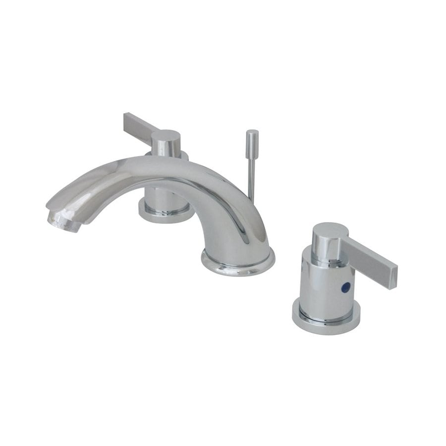 Elements of Design Nuvofusion Polished Chrome 2-Handle Widespread Bathroom Faucet (Drain Included)