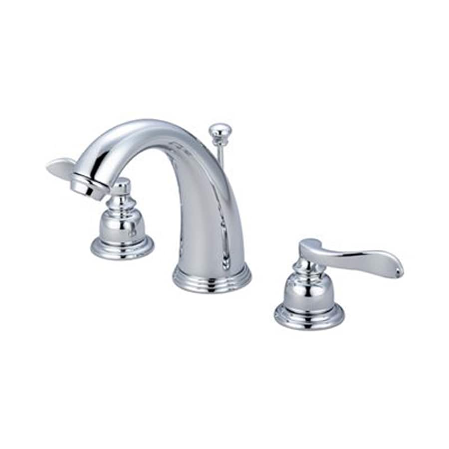 Elements of Design Nuwave French Polished Chrome 2-Handle Widespread Bathroom Faucet (Drain Included)
