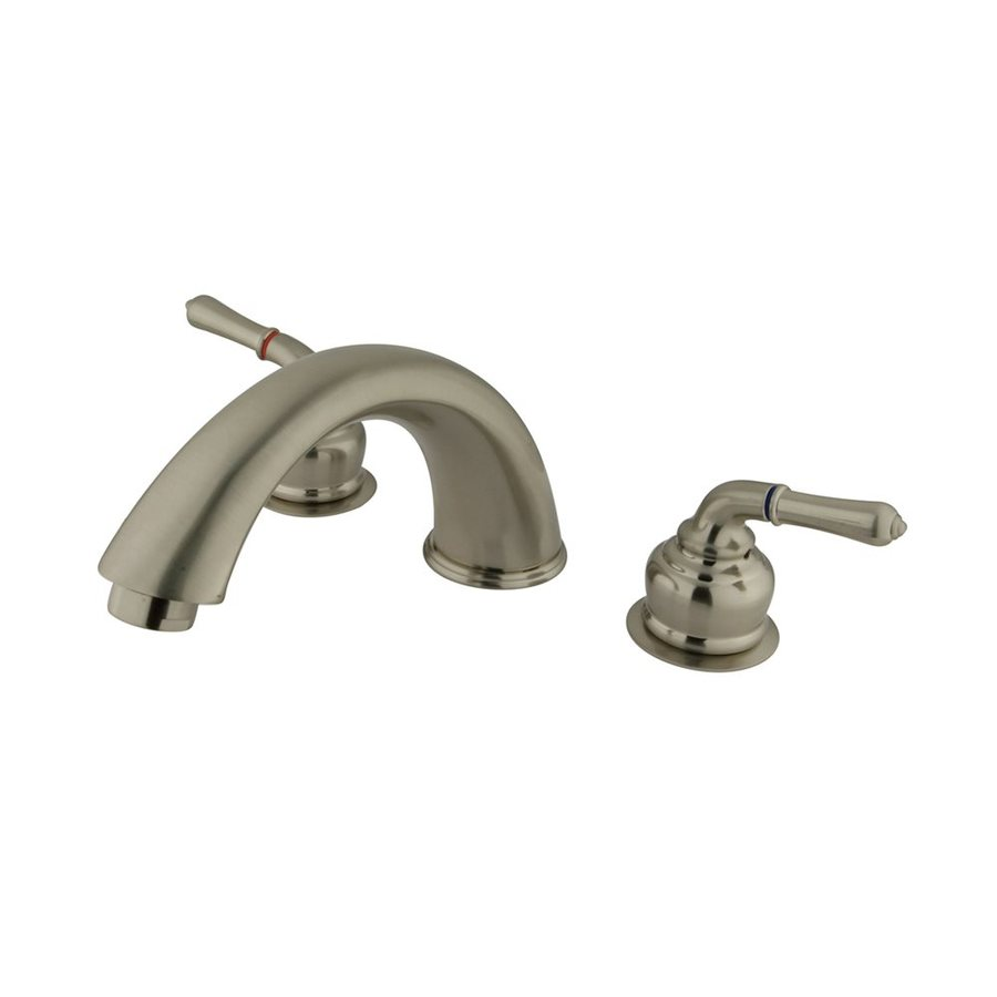 Elements of Design Magellan Satin Nickel 2-Handle Adjustable Deck Mount Bathtub Faucet