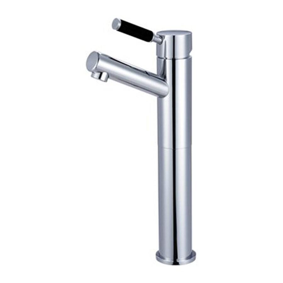 Elements of Design Kaiser Polished Chrome 1-Handle Single Hole Bathroom Faucet