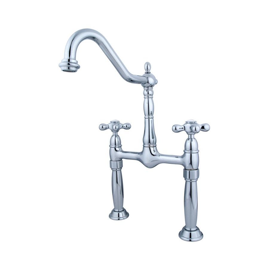 Elements of Design Victorian Chrome 2-Handle Widespread Bathroom Faucet