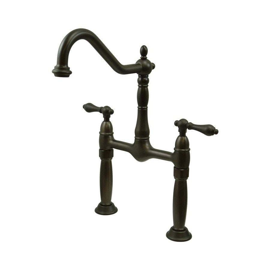 Elements of Design Victorian Dark Bronze 2-Handle Widespread Bathroom Faucet