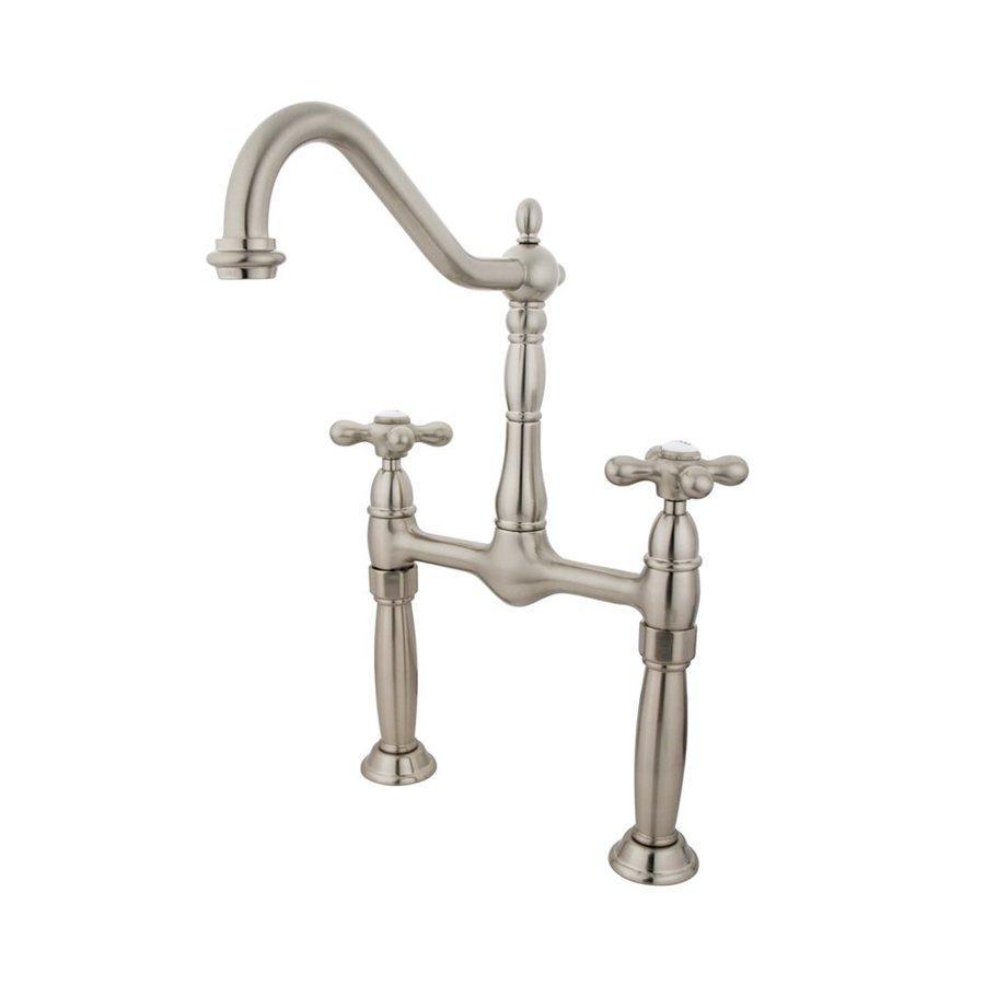 Elements of Design Victorian Satin Nickel 2-Handle Widespread Bathroom Faucet