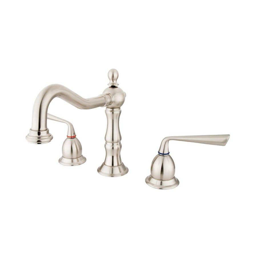 Elements of Design Silver Sage Satin Nickel 2-Handle Widespread Bathroom Faucet (Drain Included)