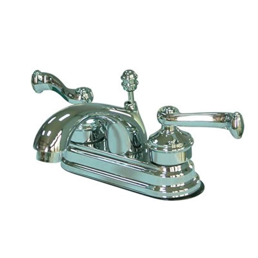 Elements of Design Chrome 2-Handle 4-in Centerset Bathroom Faucet (Drain Included)