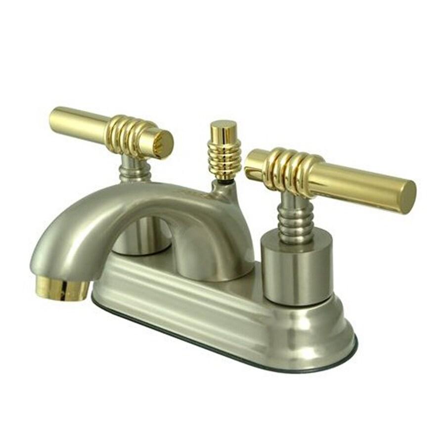 Polished brass bathroom