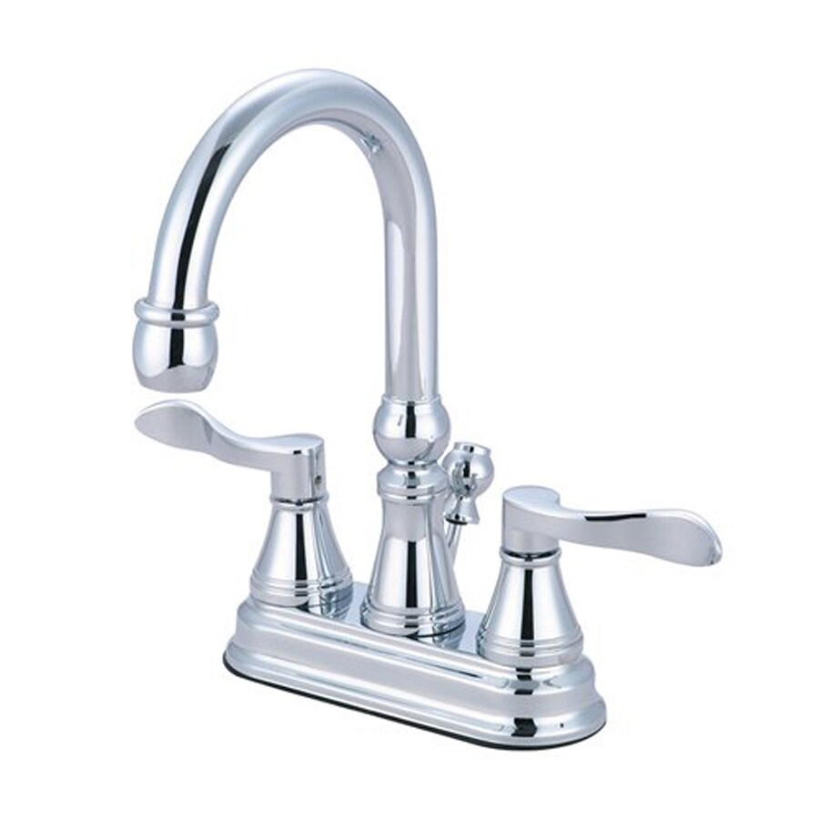 Elements of Design Nufrench Chrome 2-Handle 4-in Centerset Bathroom Faucet (Drain Included)