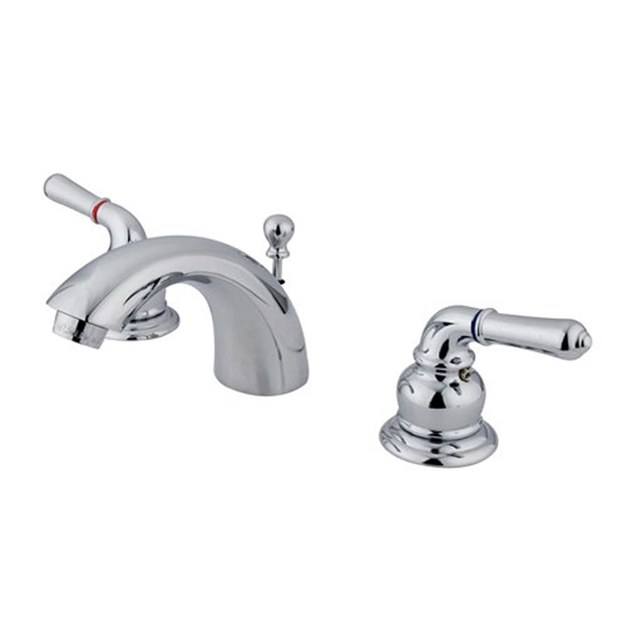Elements of Design Chrome 2-Handle 4-in Mini Widespread Bathroom Faucet (Drain Included)