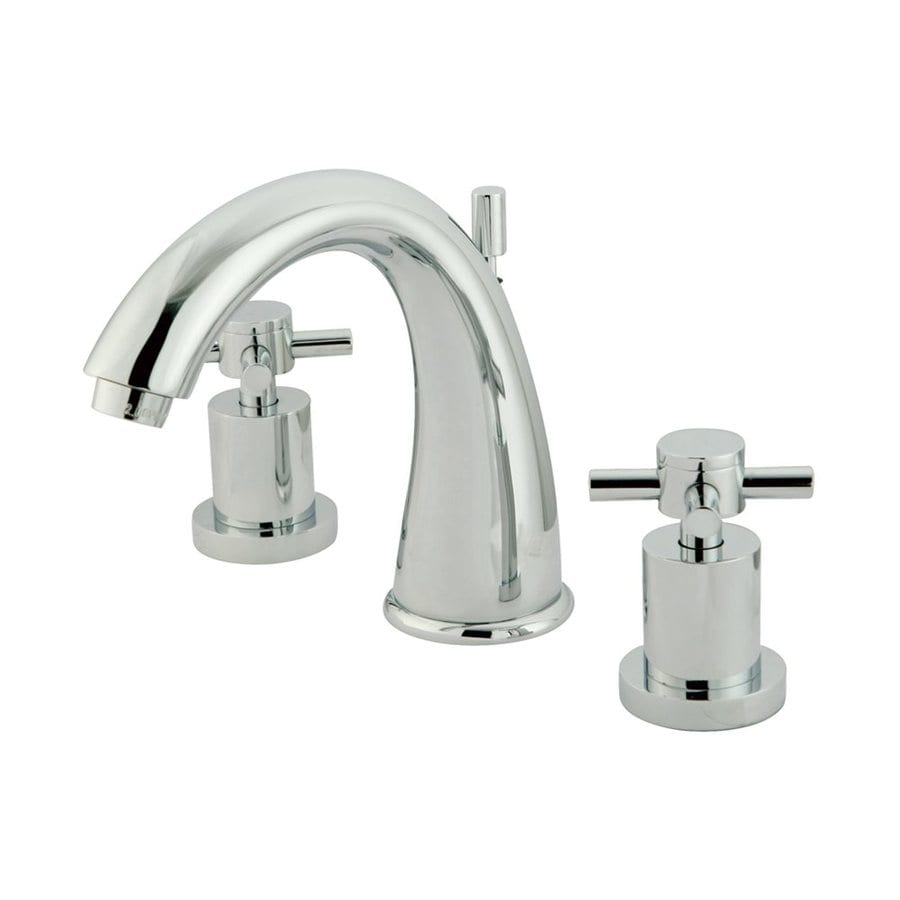 Elements of Design Concord Chrome 2-Handle Widespread Bathroom Faucet (Drain Included)