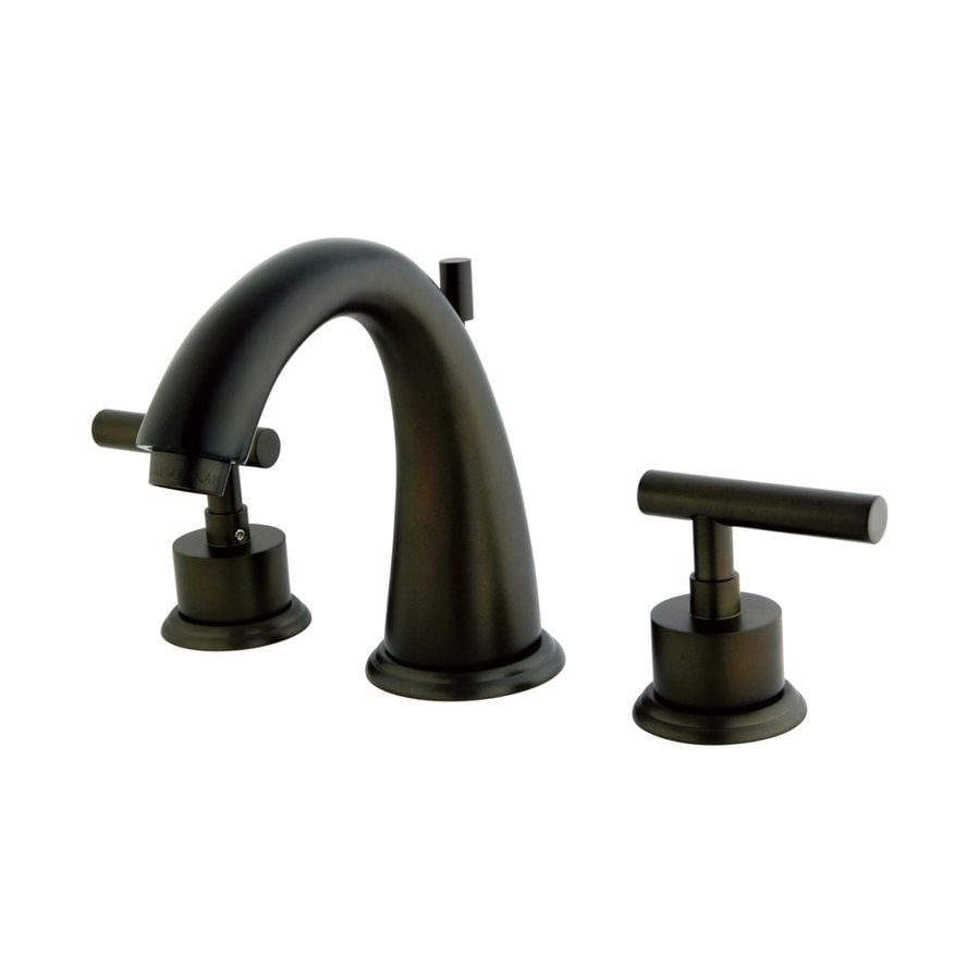 Elements of Design Manhattan Oil-Rubbed Bronze 2-Handle Widespread Bathroom Faucet (Drain Included)
