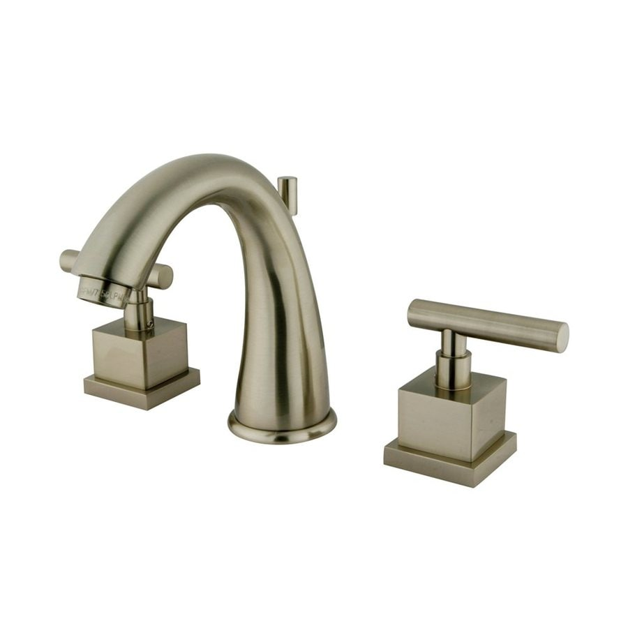 Elements of Design Claremont Satin Nickel 2-Handle Widespread Bathroom Faucet (Drain Included)