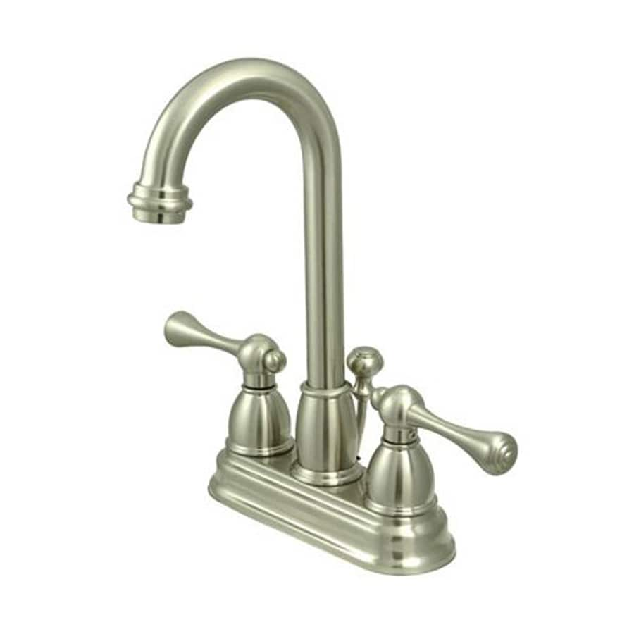 Elements of Design English Country Satin Nickel 2-Handle 4-in Centerset Bathroom Faucet (Drain Included)