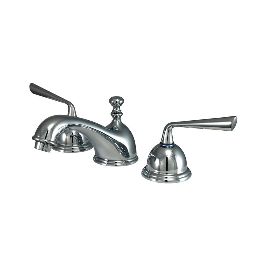 Elements of Design Polished Chrome 2-Handle Widespread Bathroom Faucet (Drain Included)