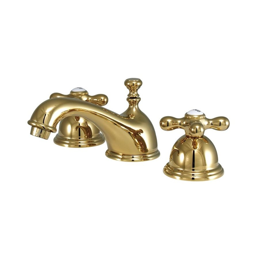 Shop Elements Of Design Chicago Polished Brass 2 Handle Widespread Bathroom Faucet At