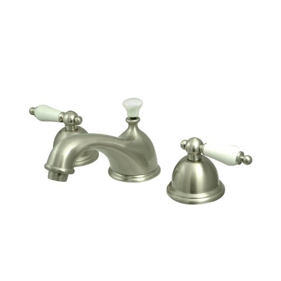 Elements of Design Chicago Satin Nickel 2-Handle Widespread Bathroom Faucet