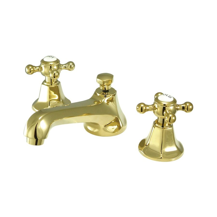 Elements of Design New York Polished Brass 2-Handle Widespread Bathroom Faucet