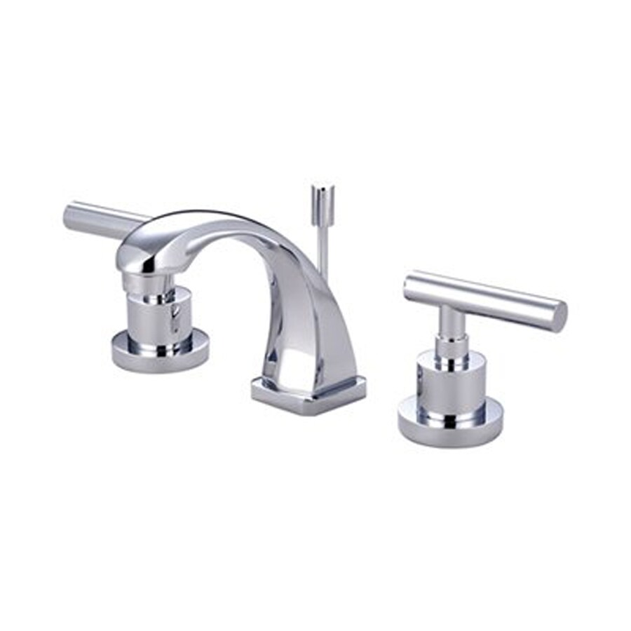 Shop Elements Of Design Manhattan Polished Chrome 2 Handle 4 In Mini Widespread Bathroom Faucet