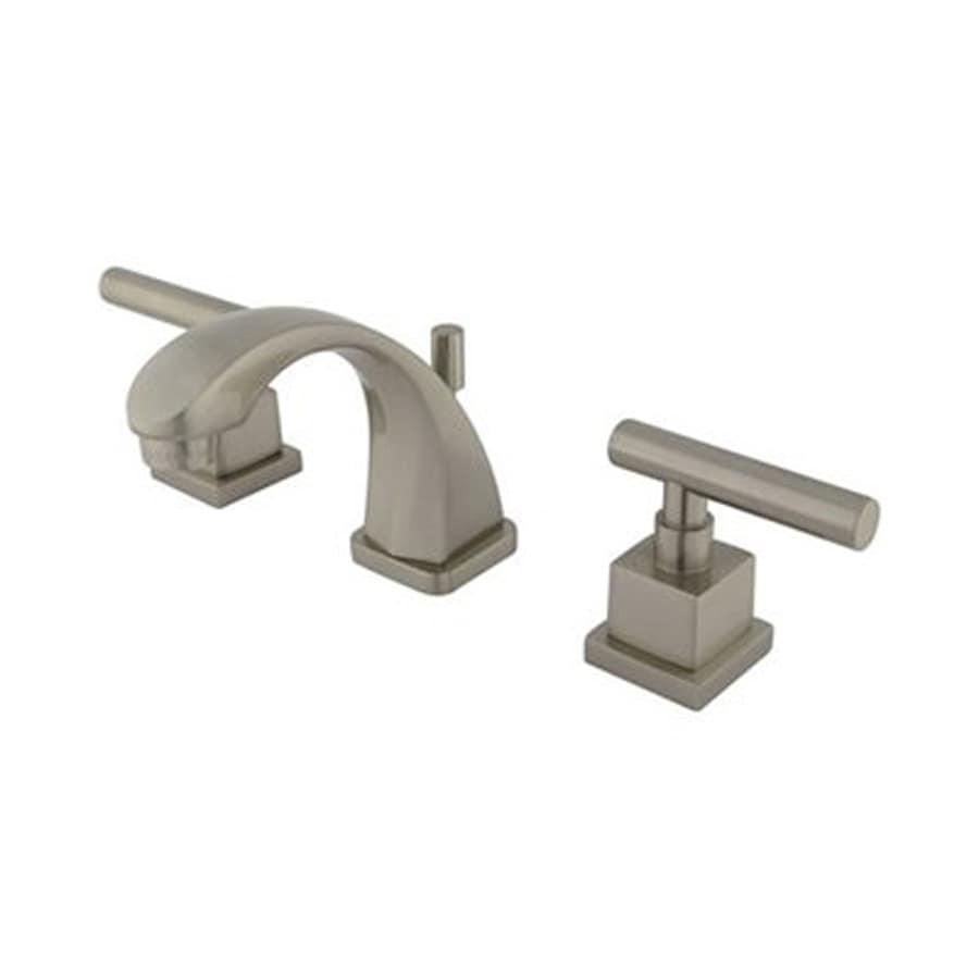 Elements of Design Claremont Satin Nickel 2-Handle 4-in Mini Widespread Bathroom Faucet (Drain Included)