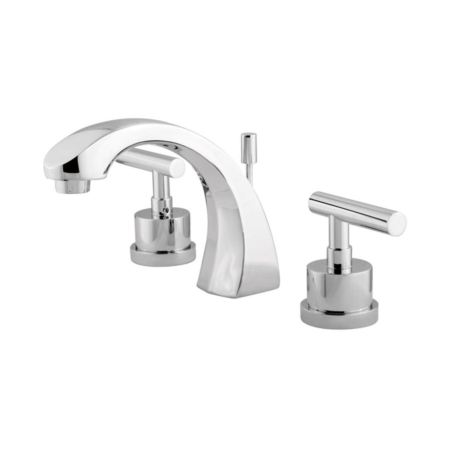 Elements of Design Manhattan Polished Chrome 2-Handle Widespread Bathroom Faucet (Drain Included)