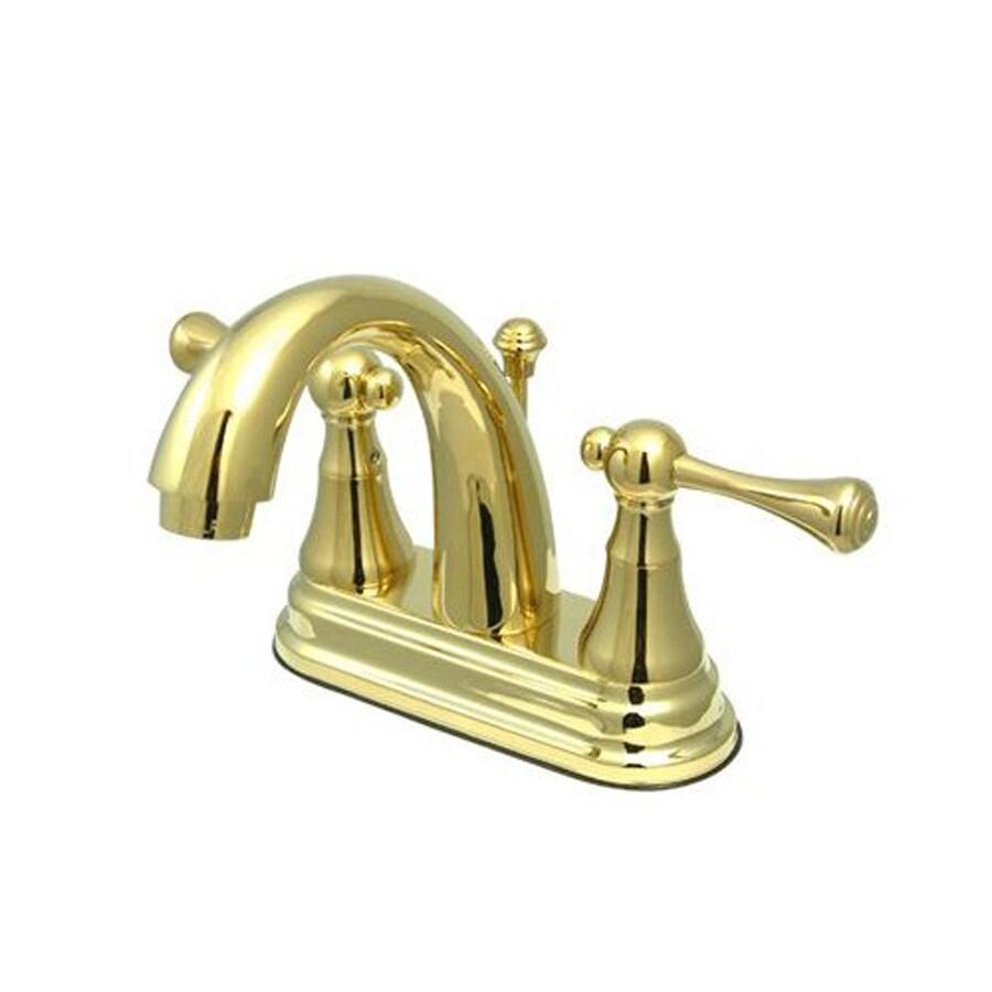 Shop Elements Of Design English Vintage Polished Brass 2 Handle 4 In Centerset Bathroom Faucet