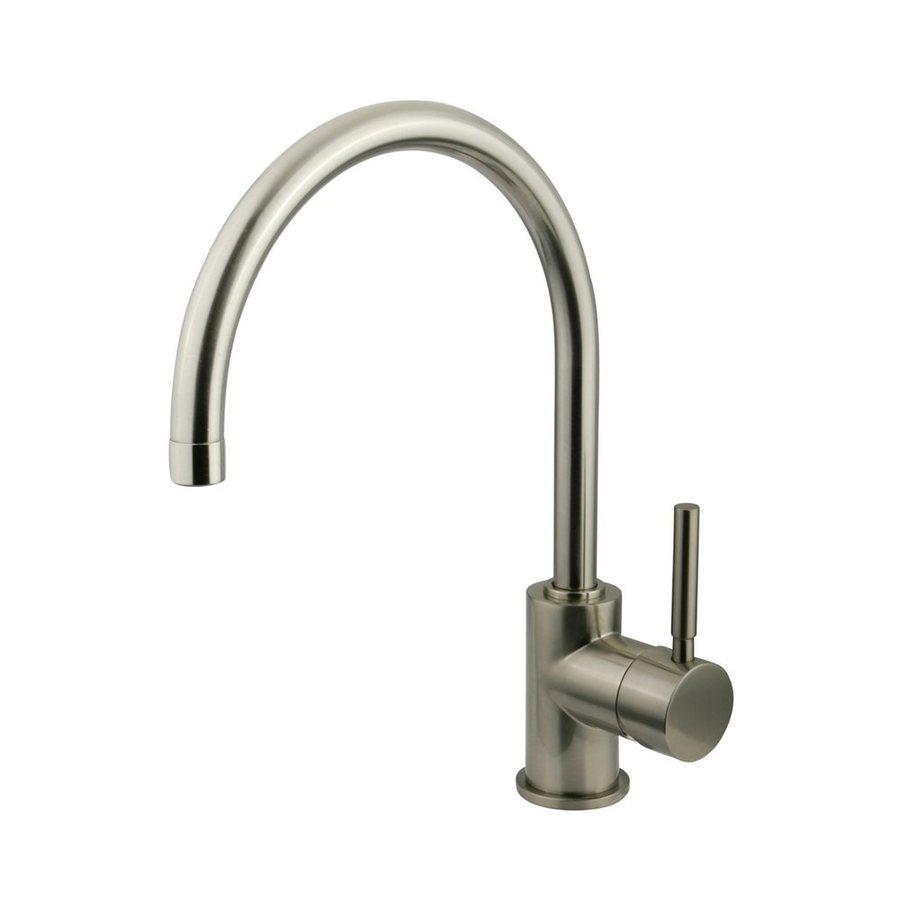 Elements of Design Concord Satin Nickel 1-Handle Single Hole Bathroom Faucet