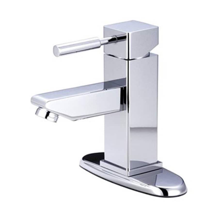 Elements of Design Concord Chrome 1-Handle 4-in Centerset Bathroom Faucet