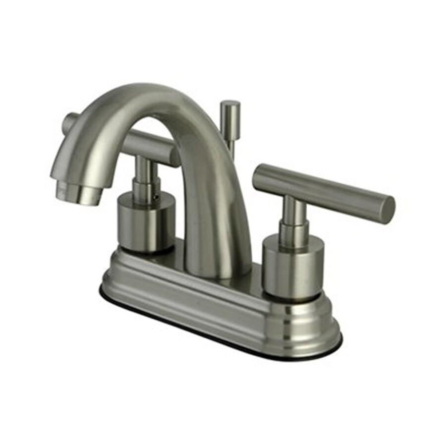 8 In Centerset Bathroom Faucet : ... Satin Nickel 2-Handle 4-in Centerset Bathroom Faucet (Drain Included