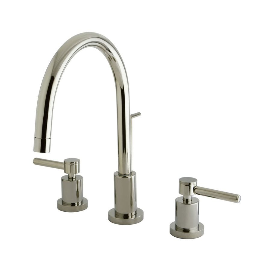 Shop Elements Of Design Polished Nickel 2 Handle Widespread Bathroom Faucet Drain Included At