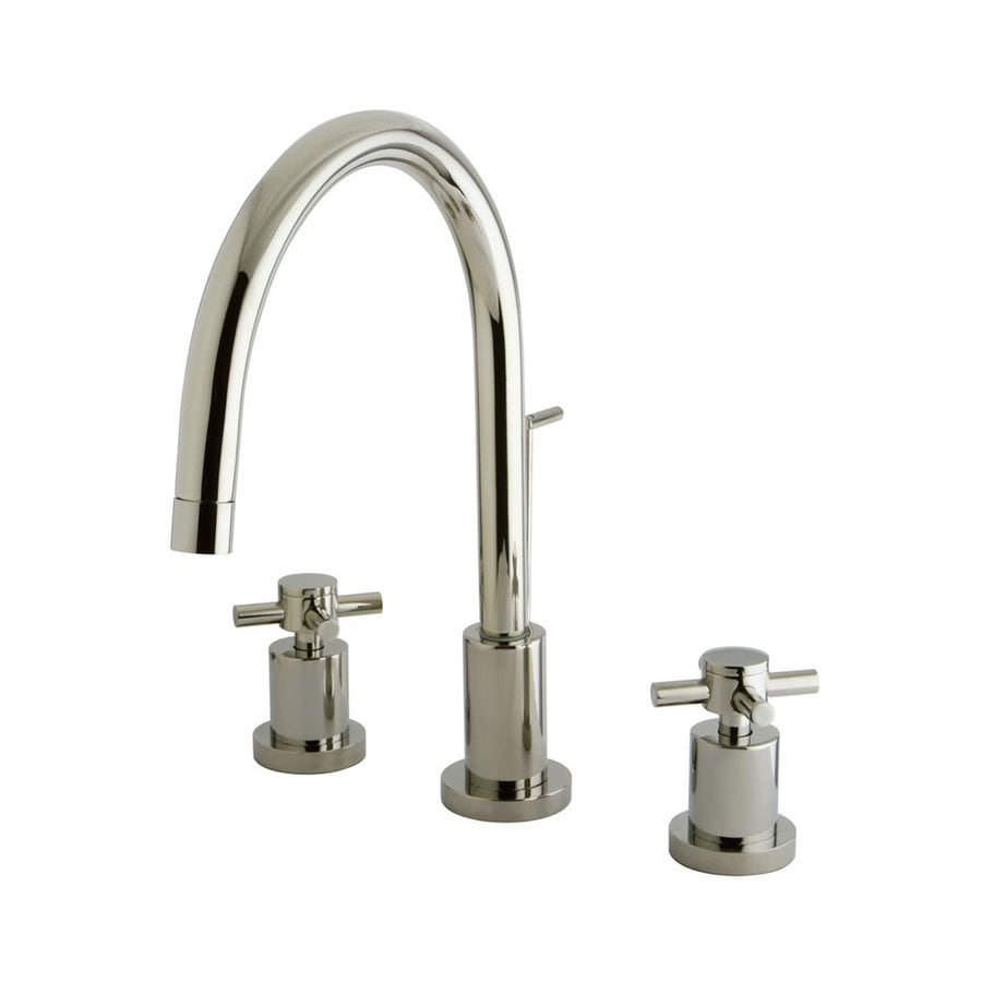 Elements of Design Polished Nickel 2-Handle Widespread Bathroom Faucet (Drain Included)