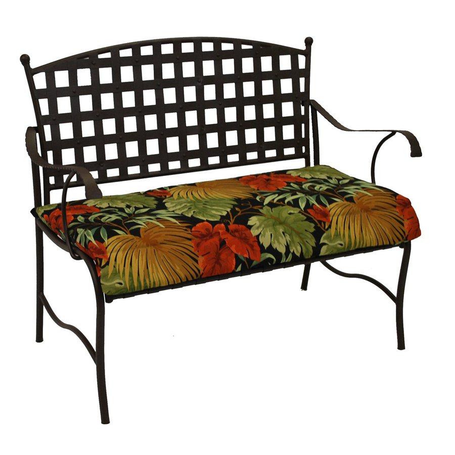 Blazing Needles Tropique Raven Tropical Cushion For Loveseat