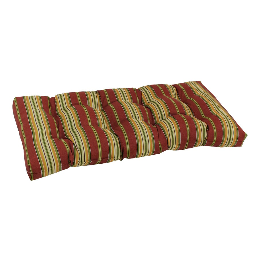 Shop Blazing Needles Kingsley Stripe Ruby Stripe Cushion For Patio Bench At