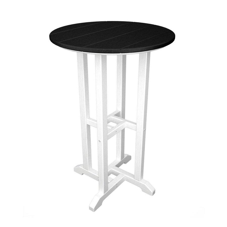 POLYWOOD Contempo 24-in W x 24-in L Round Plastic Bar Table