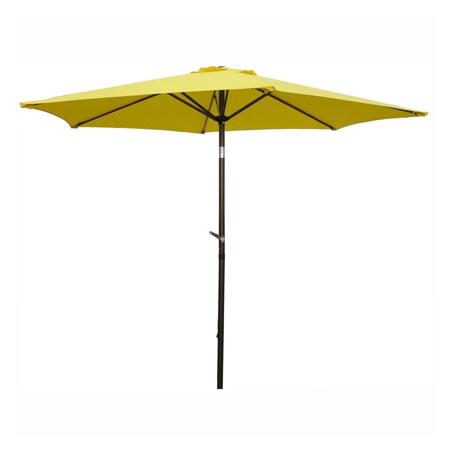International Caravan Yellow Market Patio Umbrella (Common: 8.5-ft W x 8.5-ft L; Actual: 8.25-ft W x 8.25-ft L)