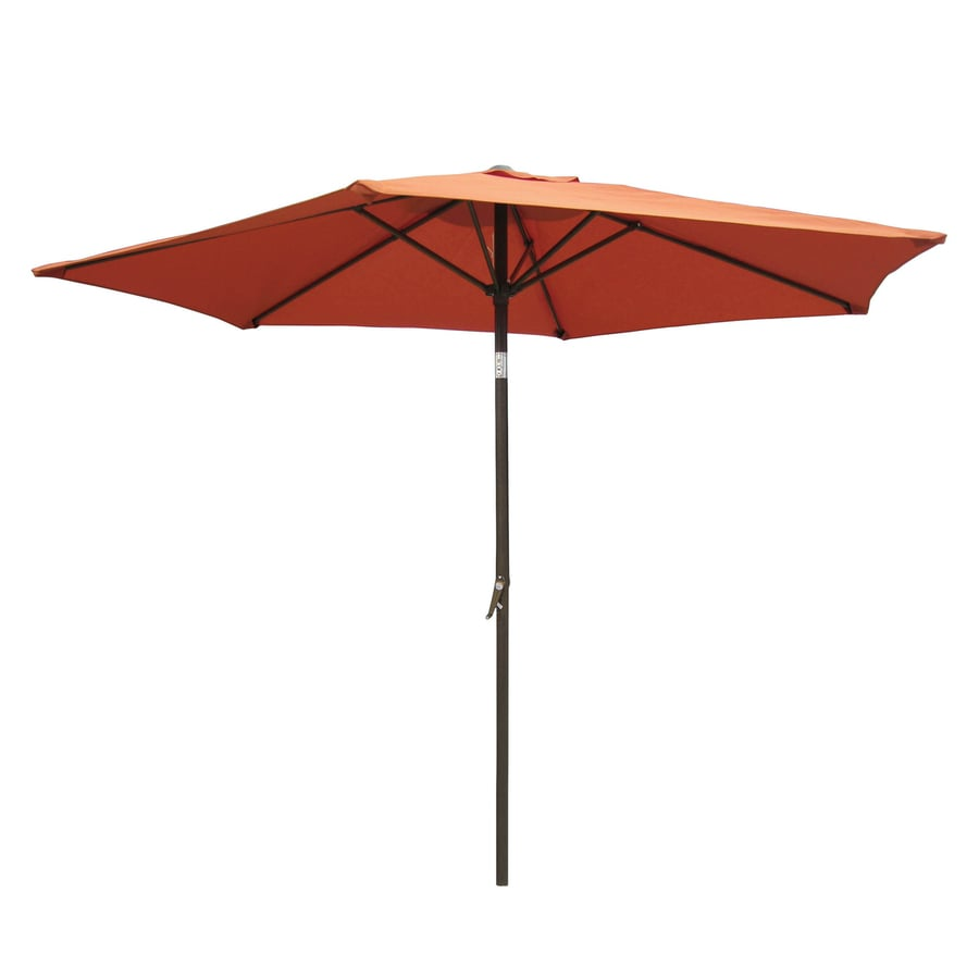 International Caravan Terra Cotta Market Patio Umbrella (Common: 8.5-ft W x 8.5-ft L; Actual: 8.25-ft W x 8.25-ft L)